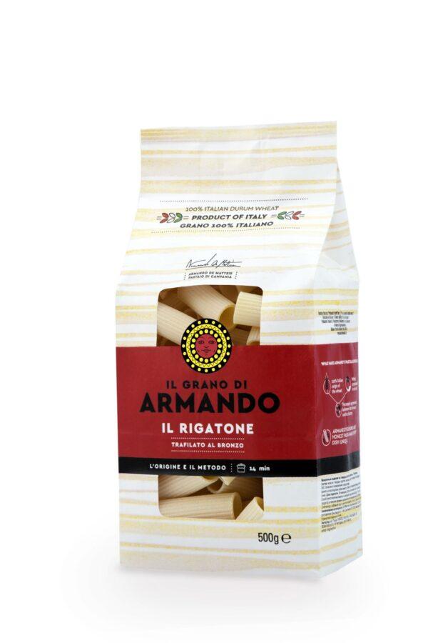 Rigatoni gr.500, Armando. Confezione: gr.500.