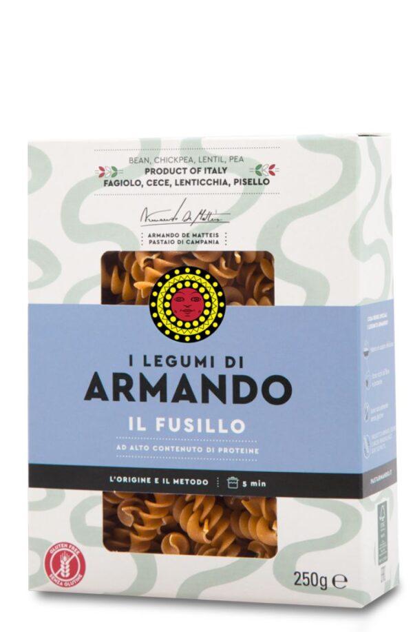 Fusilli ai legumi gr.250, Armando. Confezione: gr.250.