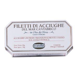 Acciughe Cantabrico gr.50, Scandia. Confezione: gr.50.