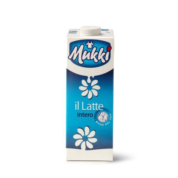 Latte intero UHT da Lt.1, Mukki. Confezione: Lt.1.