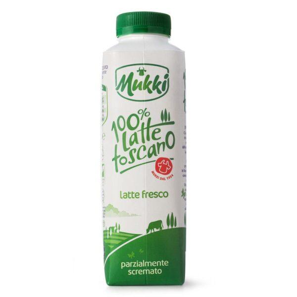 Latte fresco parzialmente scremato 100% Toscano da ml.500, Mukki. Confezione: ml.500.