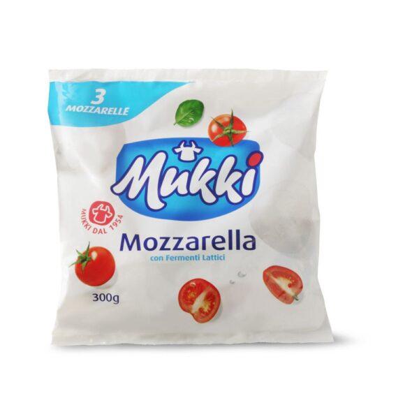 Mozzarella tris gr.100x3, Mukki. Confezione: gr.100x3.