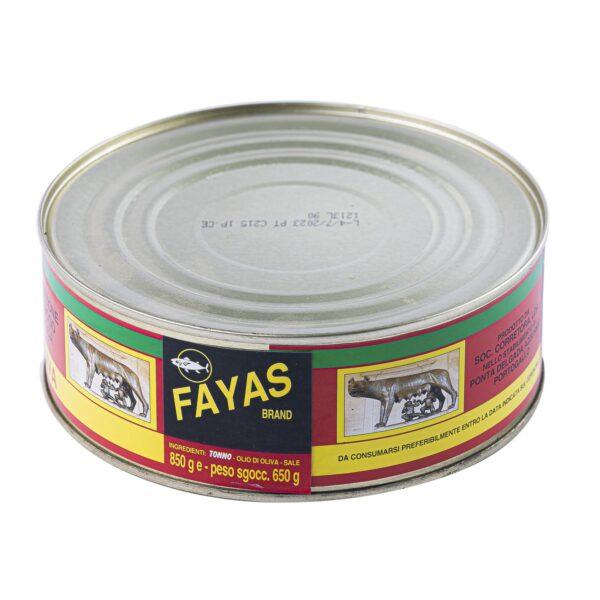 Tonno gr.850, Fayas. Confezione: gr.850.