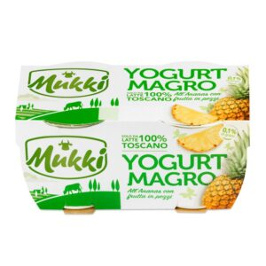 Yogurt 0,1 ananas 100% Toscano gr.125x2, Mukki. Confezione: gr.125x2.
