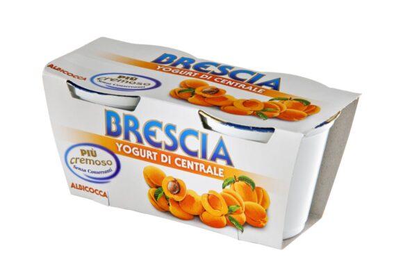 Yogurt albicocca gr.125x2, Centrale di Brescia. Confezione: gr.125x2.