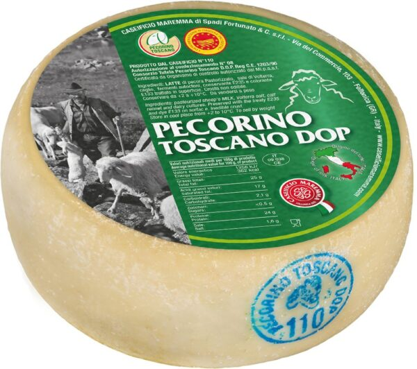 Pecorino Toscano DOP ca. Kg.2,1, Caseifico Maremma. Confezione: Kg.2,1.
