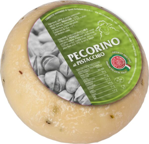 Pecorino mini al pistacchio gr.500, Caseifico Maremma. Confezione: gr.500.