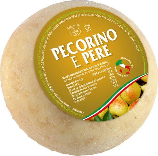 Pecorino mini alle pere gr.500, Caseifico Maremma. Confezione: gr.500.