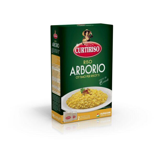 Riso Arborio in Astuccio 2x500gr, Curtiriso. Confezione: Astuccio 2x500gr.