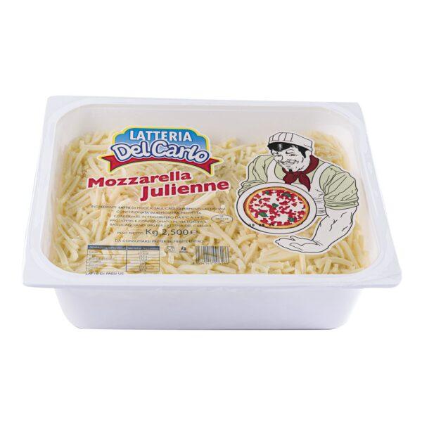 Mozzarella julienne Kg.2,5, Latteria Del Carlo. Confezione: Kg.2,5.