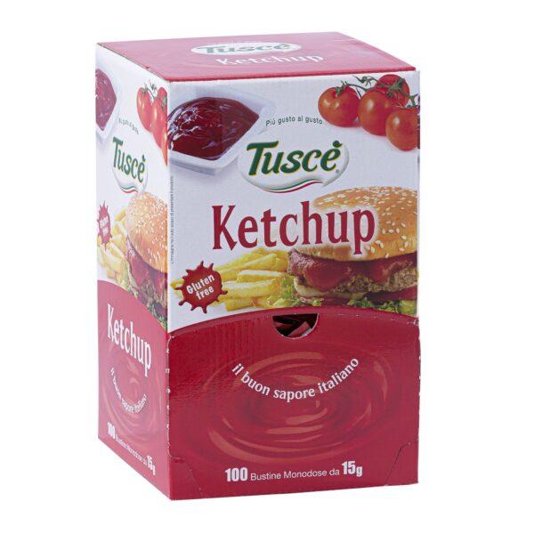 Ketchup monodose gr.15x100, Tuscè. Confezione: gr.15x100.